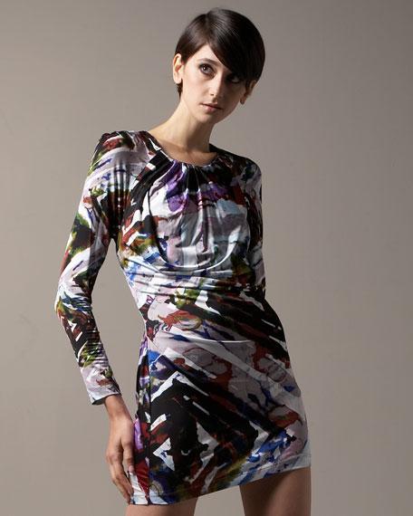 Multicolor Printed Jersey Dress
