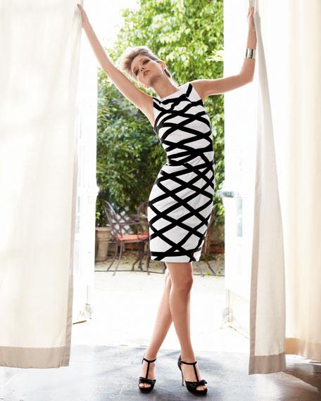 Lattice Sheath Dress
