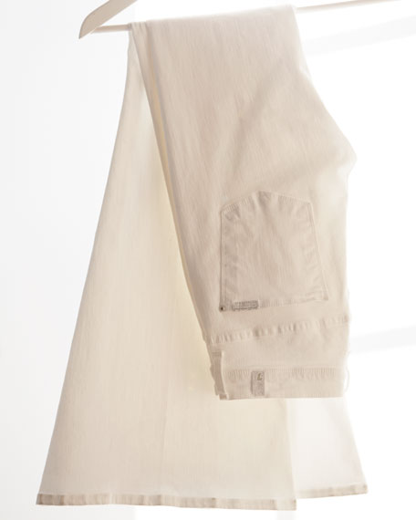 Bell Bottom Clean White Jeans