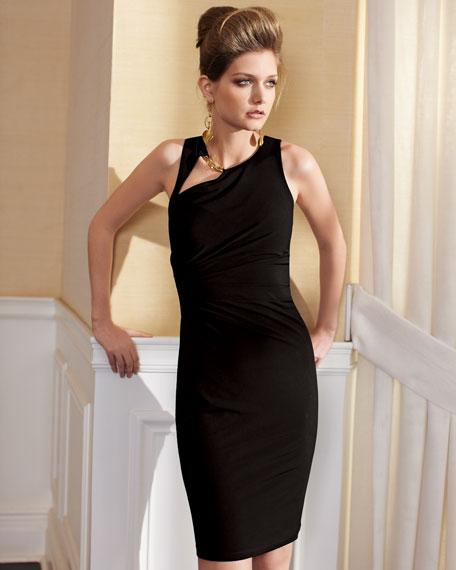 Chain-Detail Jersey Dress