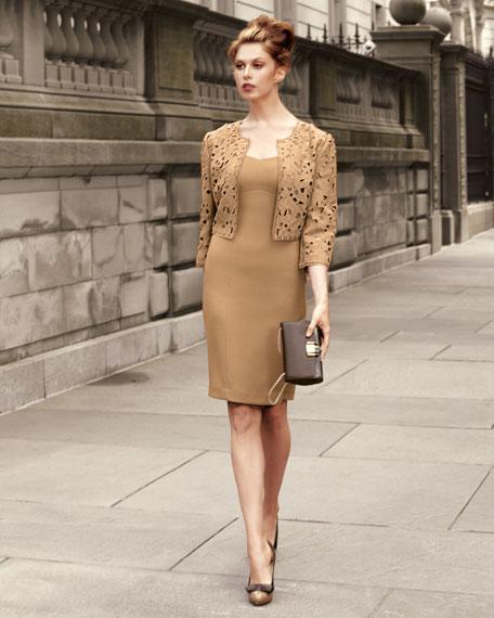 Sheath Dress & Cutout Jacket