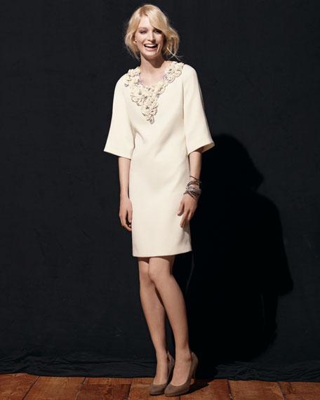 Floral-Applique Dress