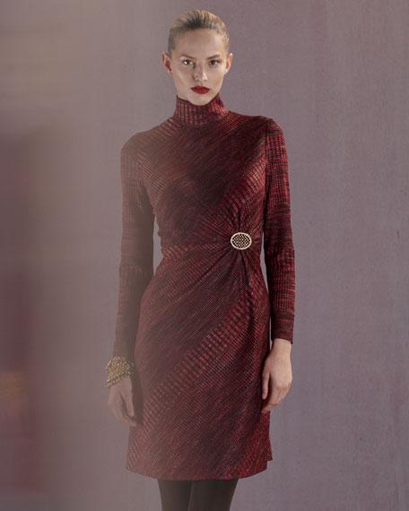 Textured Turtleneck Dress