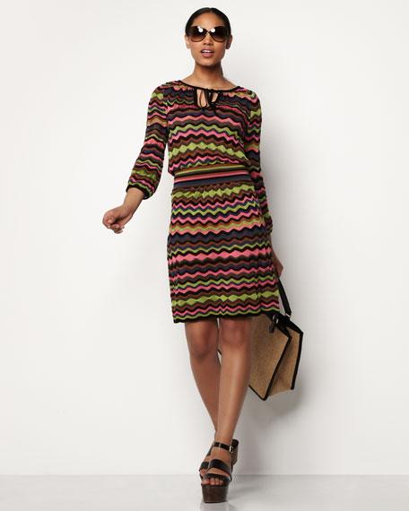 Wavy Pointelle Dress