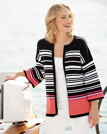 Yacht Striped Cardigan