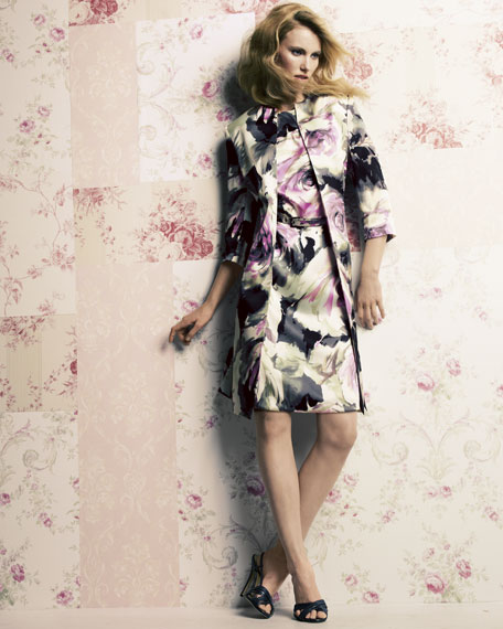 Floral-Print Jacket & Dress Set