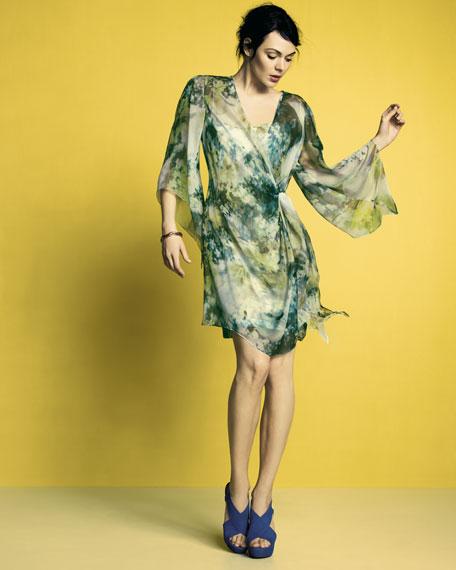 Printed Caftan Cocktail Dress