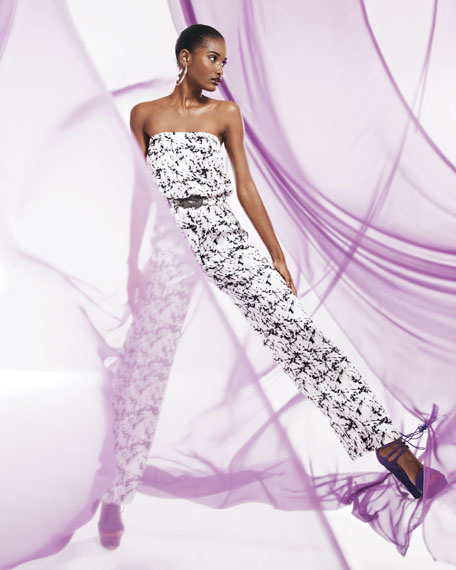 Printed Satin Jumpsuit