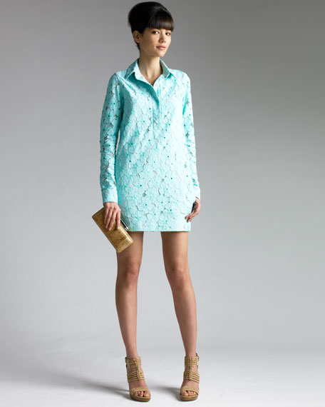 Leeandra Floral-Lace Dress