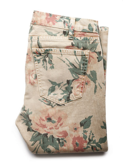 The Stiletto Haystack Floral-Print Jeans