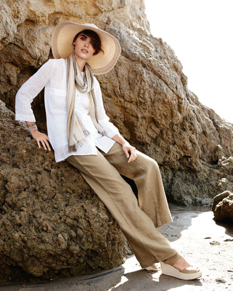 Linen Gauze Blouse, Women's