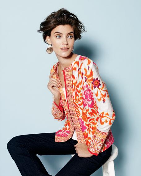 Mixed Print Jacquard Jacket, Women's