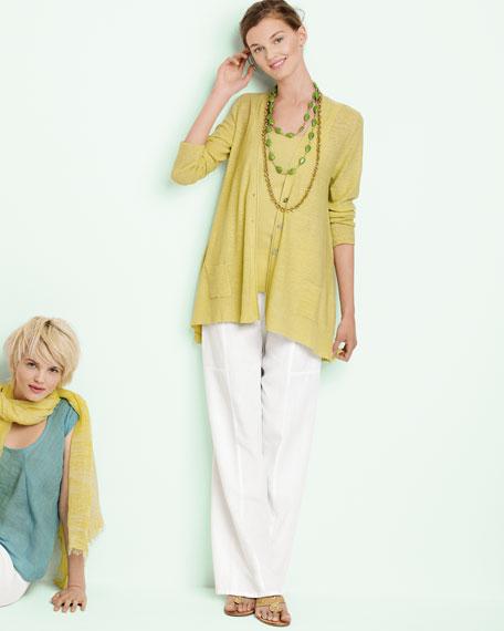 Knit Linen Cardigan, Women's