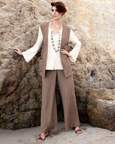 Relaxed Silk Pants, Women's