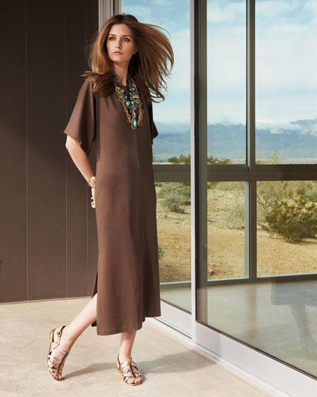Split-Neck Dolman Dress, Women's