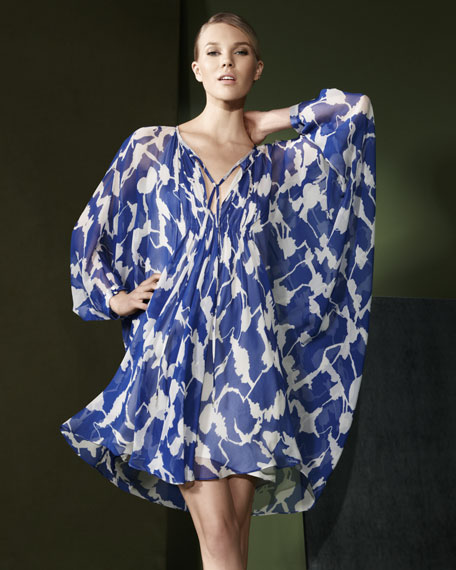 Fleurette Printed Chiffon Dress