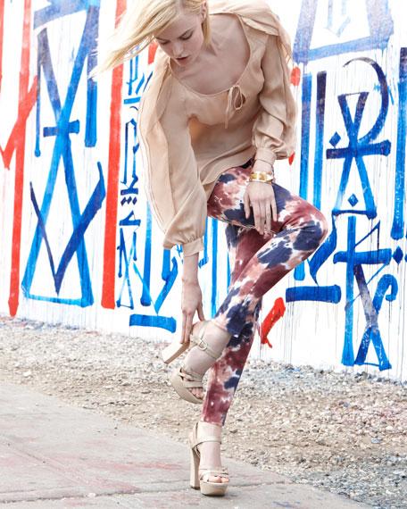 Verdugo Skinny Jeans, Tumble Tie Dye