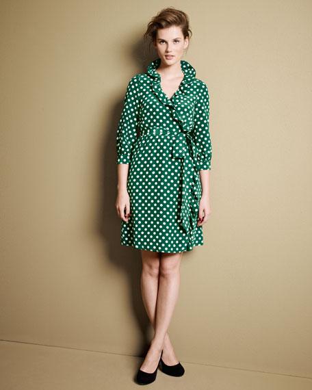 Daniella Dot-Print Wrap Dress