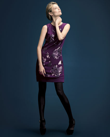 Sequined Silk Dress