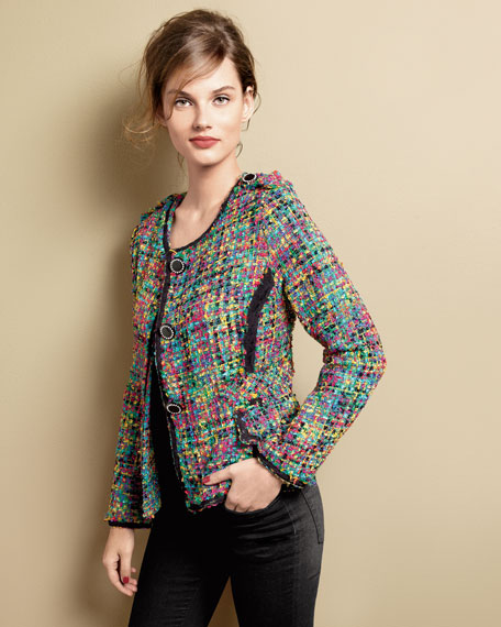 Colorful Crayons Boucle Jacket, Women's