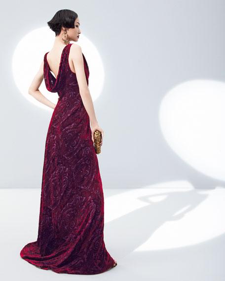 Burnout Velvet Gown
