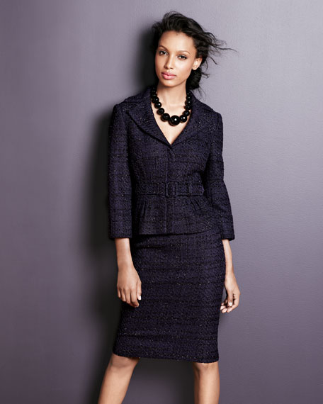 Sequined Tweed Suit