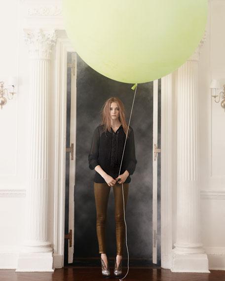 Sheer Silk Blouse, Women's