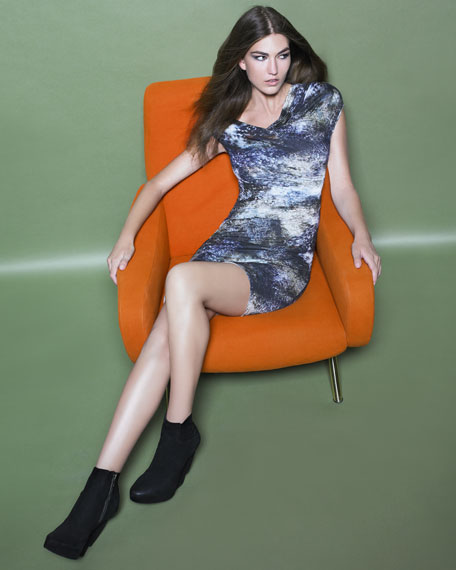 Oxide-Print Jersey Dress