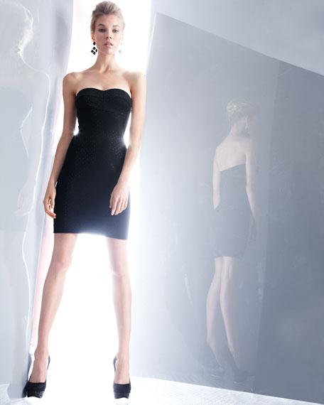 Studded Strapless Dress