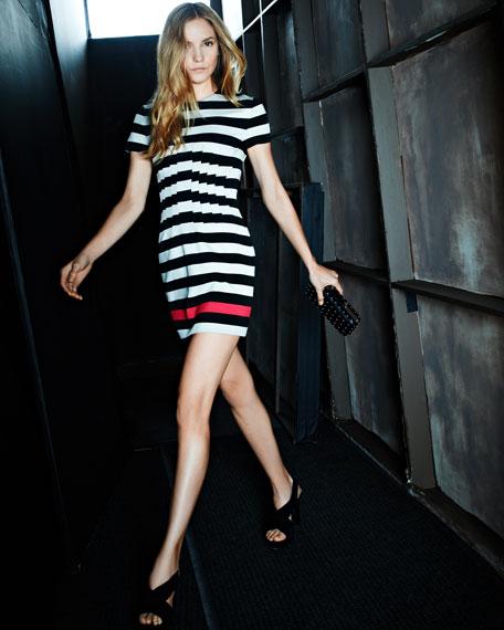 Yazmine Striped Jersey Dress
