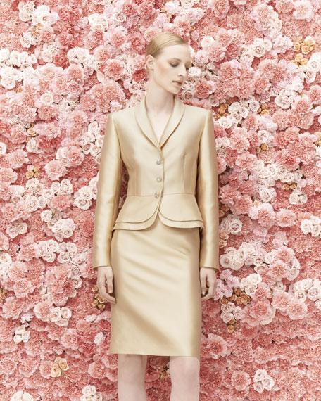 Double Peplum Skirt Suit