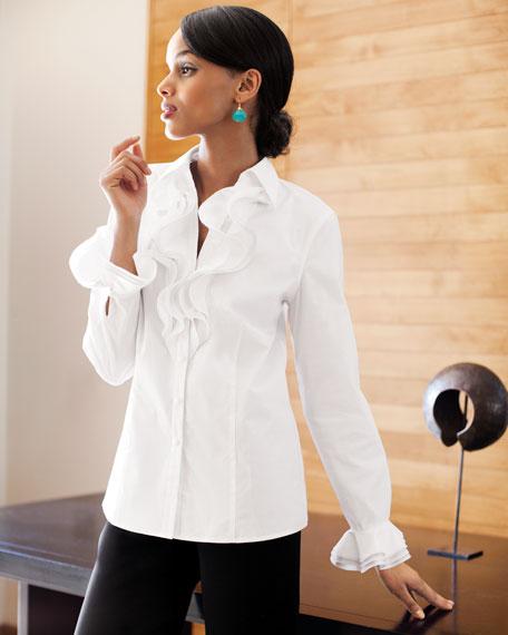 Ruffle-Detail Blouse, Women's