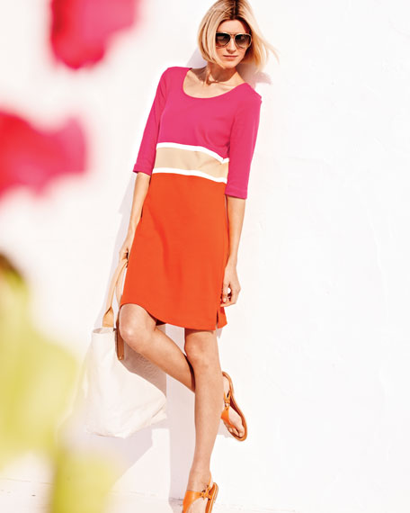 Colorblock Interlock Dress