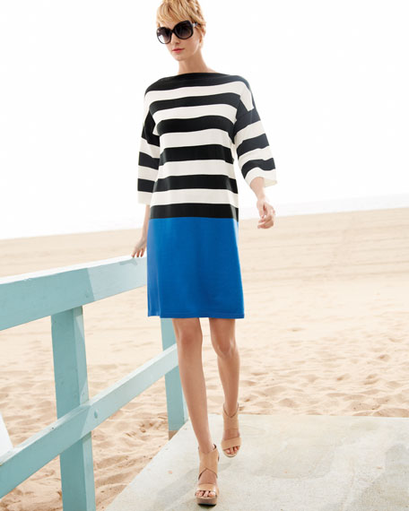 Colorblock Striped Dress