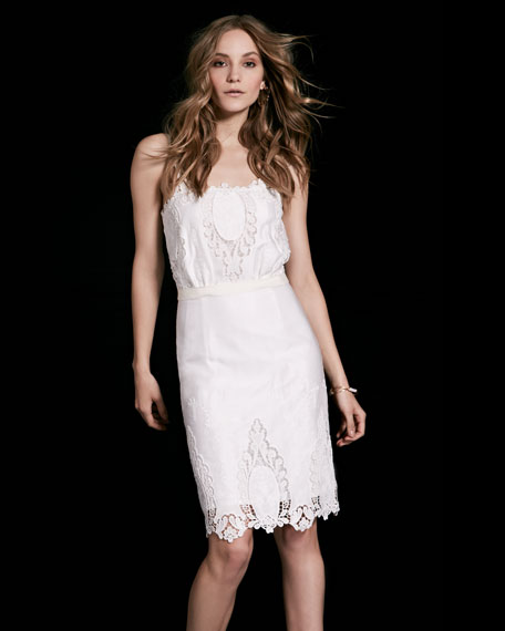 Sleeveless Eyelet Lace Dress