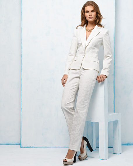 Notched-Collar Pant Suit