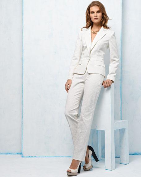 Notched-Collar Pant Suit