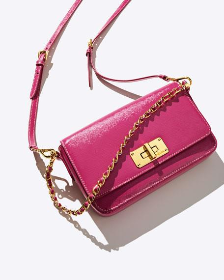 Saffiano Vernice Crossbody Bag