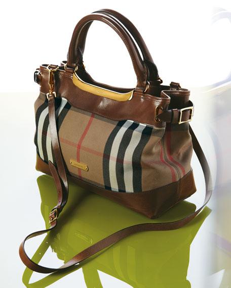 Check Tote Bag, Small