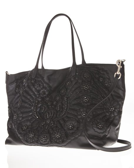 Glamorous Embroidered Tote Bag