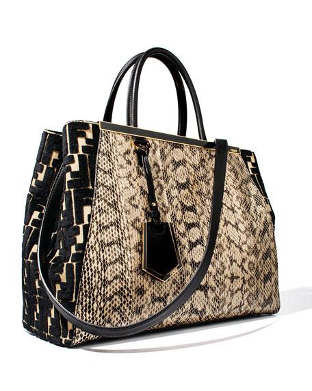 2Jours Snakeskin Tote Bag