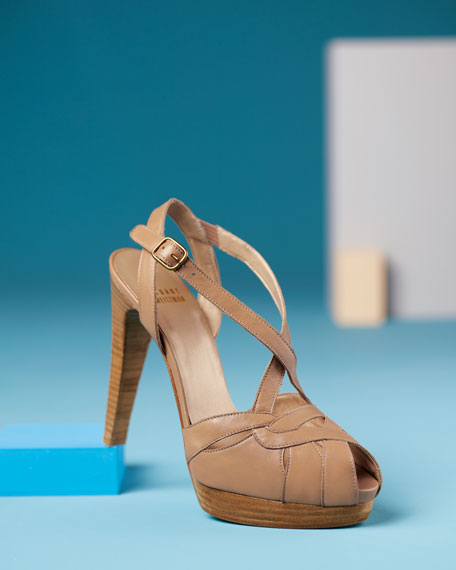 Crisscross Platform Sandal