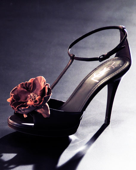 Rose T-Strap Sandal