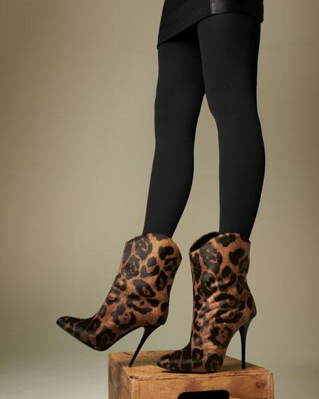 Leopard-Print Mid Boot