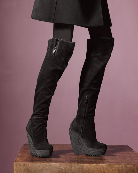 Wedge Over-The-Knee Boot
