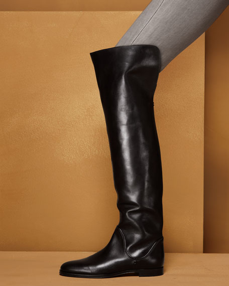 Over-the-Knee Flat Boot