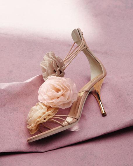 Chiffon-Flower Sandal