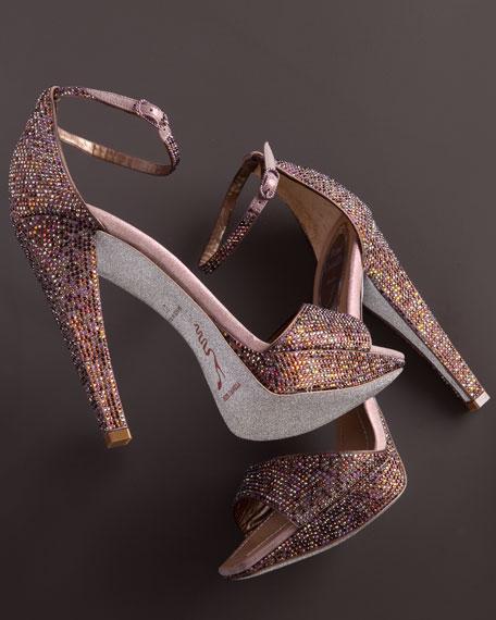 Crystal Ankle-Wrap Sandal