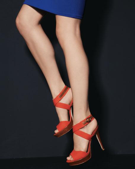 Canvas Platform Sandal