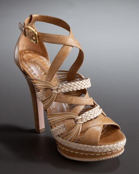 Multi-Strap Platform Sandal